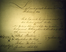 Register of Baptisms Ternate 1834